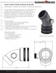 Datasheet - 105A High Rise Drain Elbow